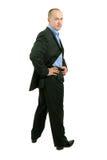 verticale intégrale d'homme d'affaires image stock