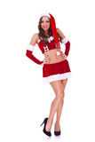 Verticale intégrale d'une Santa sexy Photographie stock