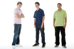 verticale intégrale de garçons d'adolescent photographie stock libre de droits
