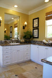Verticale jaune de pièce de Bath principal Photos stock