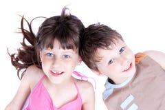 Verticale jeune d'une famille en bonne santé et attirante Photographie stock libre de droits