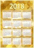 Verticale kalender 2018 Stock Afbeelding