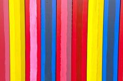 Verticale kleurrijke raad Stock Foto's