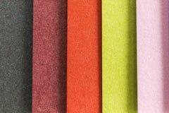 Verticale kleurrijke texturenstrepen Stock Fotografie