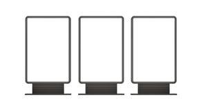 Verticale lege openluchtlightboxes Royalty-vrije Stock Afbeelding