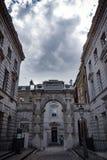 Verticale mening van een Hoek van Somerset House in Londen stock fotografie