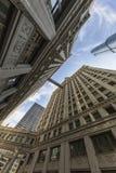 Verticale mening van gebouwen in Chicago royalty-vrije stock foto