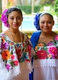 Verticale mexicaine de danseurs Image libre de droits
