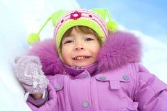 Verticale mignonne de l'hiver de fille Images libres de droits