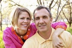 Verticale mûre de couples Photo libre de droits