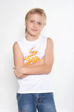 Verticale N5 d'un garçon d'onze ans. photo stock