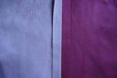 Verticale naad tussen twee kleuren van suède royalty-vrije stock afbeelding