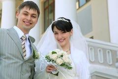 Verticale neuf de ménages mariés Photo libre de droits