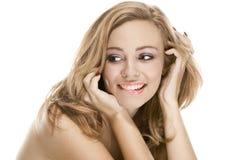 Verticale normale de beauté une fille sexuelle attirante photo stock