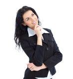 Verticale pensive de femme d'affaires Image stock
