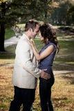 Verticale proche de couples Photos libres de droits