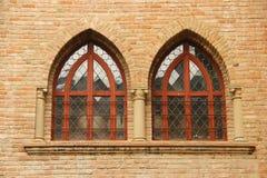 Verticale raamstijl Rocca San Vitale - Fontanellato Royalty-vrije Stock Fotografie