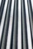 Verticale rij van de metaallentes royalty-vrije stock foto's