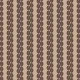 Verticale rij van naadloos patroon 1 van koffiebonen Stock Afbeeldingen