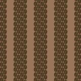 Verticale rij van naadloos patroon 2 van koffiebonen Royalty-vrije Stock Afbeeldingen