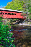 Verticale rosso della Pensilvania del ponte coperto fotografia stock