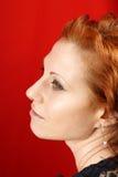 Verticale rouge de femme de cheveu photos stock
