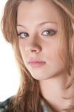 Verticale rousse de fille Photos libres de droits