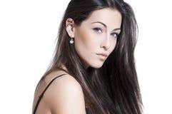 Verticale sensuelle de femme avec le renivellement léger Photo stock