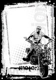 Verticale sporco della priorità bassa della motocicletta Fotografia Stock