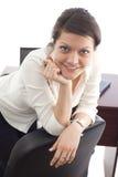 Verticale travaillante de femme d'affaires Photo libre de droits