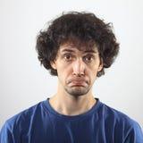 Verticale triste de jeune homme Photo libre de droits