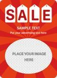 Verticale verkoopbanner Stock Afbeelding
