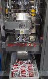 Verticale verpakkende machine royalty-vrije stock afbeelding