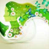 Verticale verte stylisée Photo libre de droits
