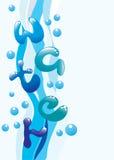Verticale waterachtergrond Stock Fotografie