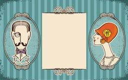 Verticales d'homme et de femme. Rétro illustration de vecteur