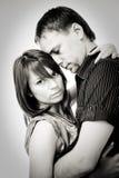 Verticales de couples photographie stock
