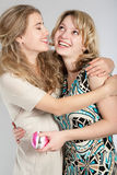 Verticales de deux belles filles Images stock