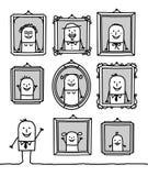 verticales de famille Photos stock