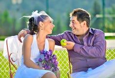 Verticales de mariage Photographie stock libre de droits