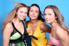 Verticales de trois filles Photo stock