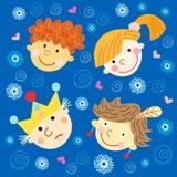 Verticales des enfants avec des sourires Image libre de droits