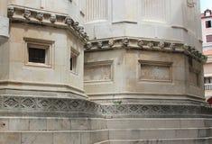 Verticales en pierre de la Renaissance - cathédrale de Sibenik image libre de droits