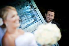 Verticales extérieures les épousant photo libre de droits