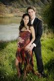 Verticales romantiques de fleuve Photos libres de droits