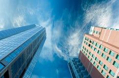 Verticali di una città moderna Immagine Stock Libera da Diritti