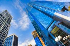 Verticali di una città moderna Immagini Stock