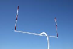 Verticalidades de postes do futebol Imagens de Stock