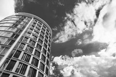 Verticality of modern building in Hamburg Stock Images