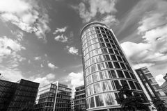 Verticality of modern building in Hamburg Royalty Free Stock Image